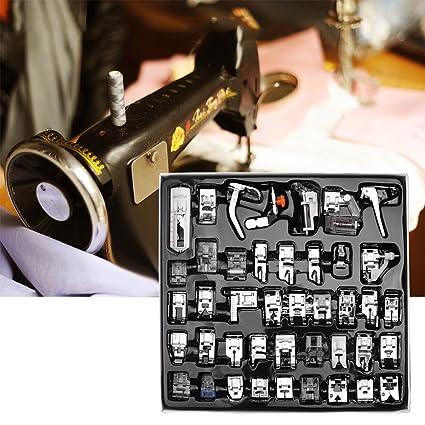 allomn 42pcs profesional juego de pies prensatelas para maquina de coser dobladillo pie piezas de repuesto