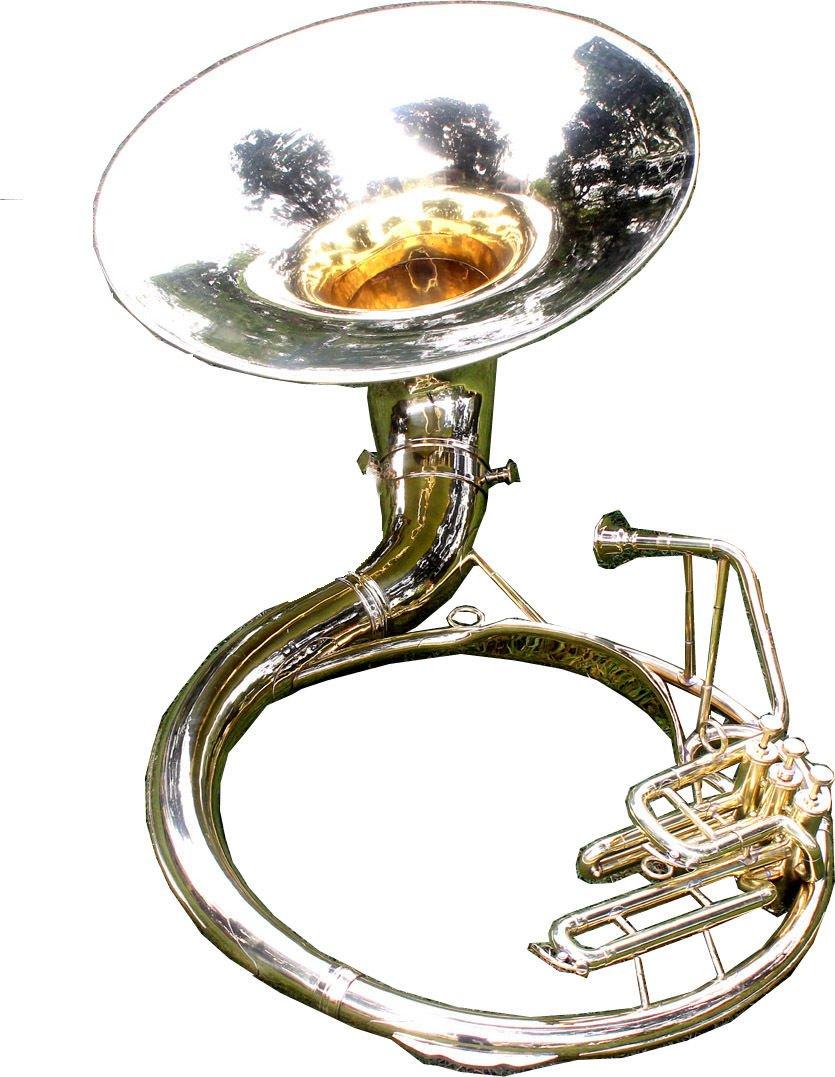 Sousaphone 25 Valve Big Tuba Made Of/Full Brass W/Bag Brass Finish Tubas Silver by SHREYAS