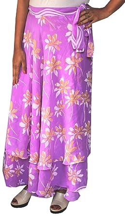 Indian falda para mujer playa larga envoltorio India Ropa Morado ...