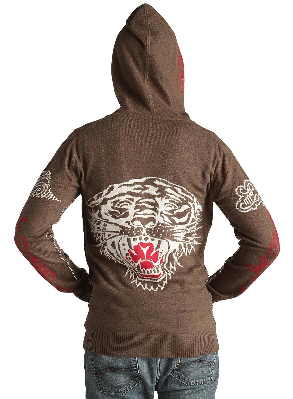 Ed Hardy Mens Long Sleeve Zip up Hoodie Sweater Graphic design