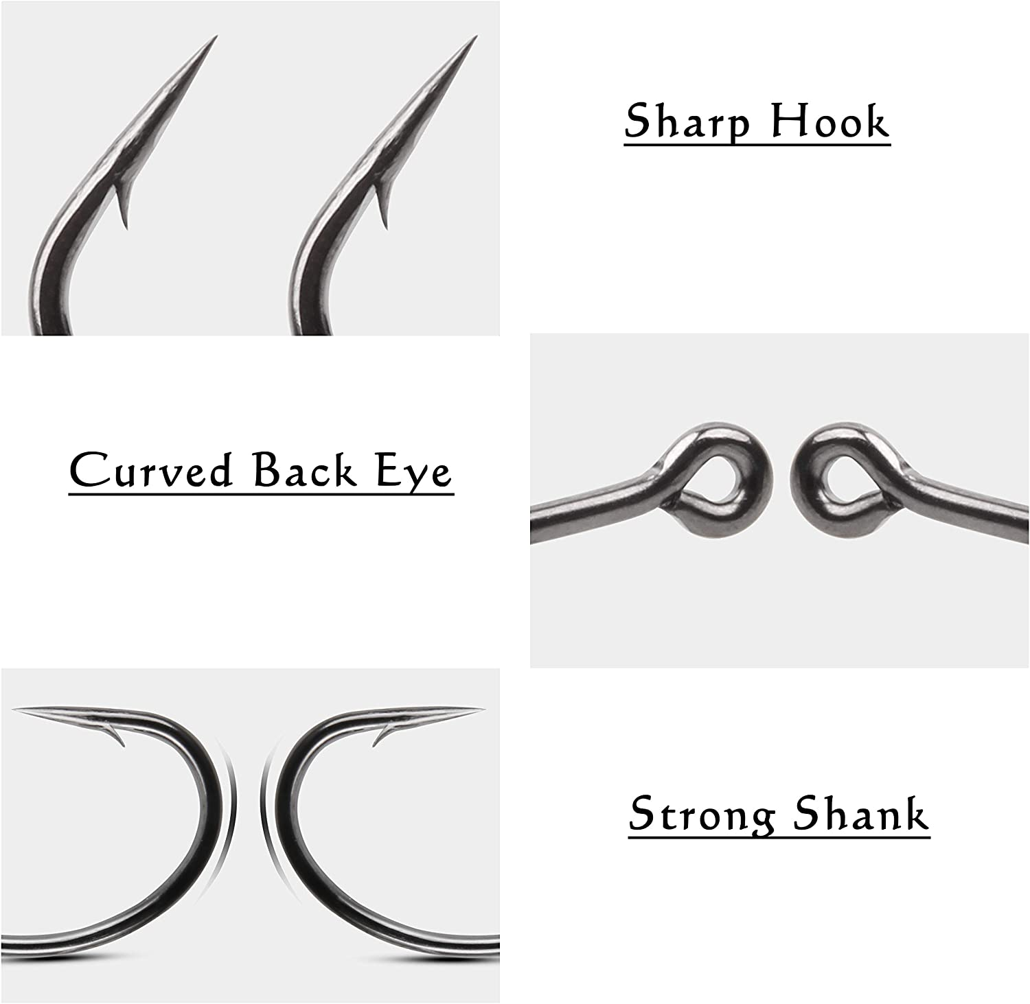30 barbless carp fishing tackle hooks offset No12