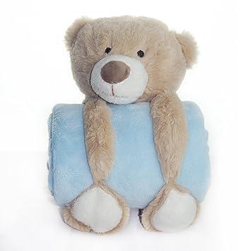 Manta con peluche para bebés y niñas, unisex, grande, suave, 100 %