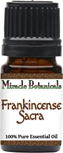 Miracle Botanicals Frankincense Sacra Essential Oil - 100% Pure Boswellia Sacra - Therapeutic Grade - 5ml
