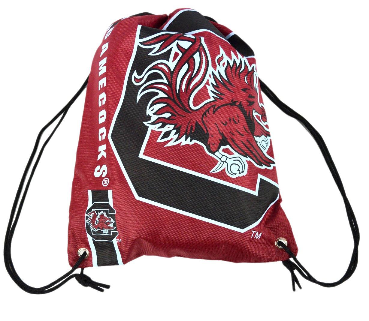 公式NCAAファンショップAuthentic Drawstring NCAA Back袋。Show学校Pride Everywhere – ジム、ホーム、学校やon Game Day B017AGH1MG  サウスカロライナ大学ゲームコックス