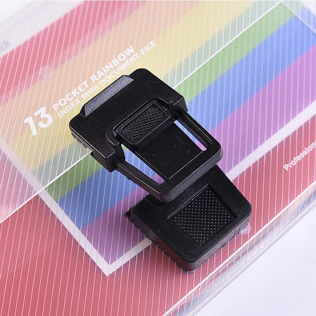 con maniglia per documenti formato A6 Qiopes Cartellina portadocumenti a fisarmonica con 13 tasche in plastica multicolore