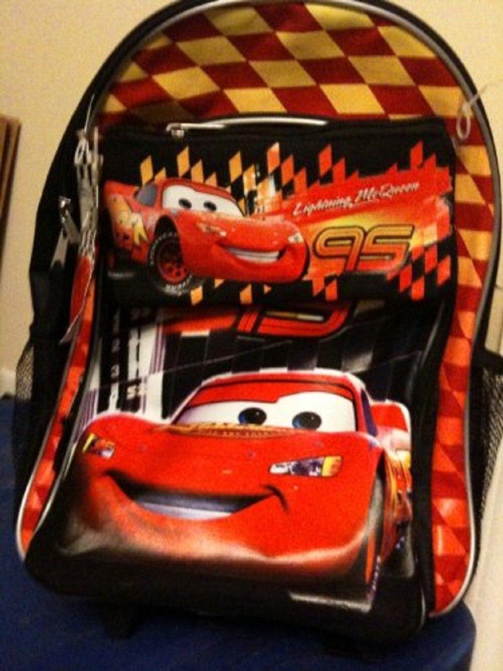 Lightning McQueen 2 Pieceマルチパックwhelledバックパックwith鉛筆バッグELS   B002Z075PG