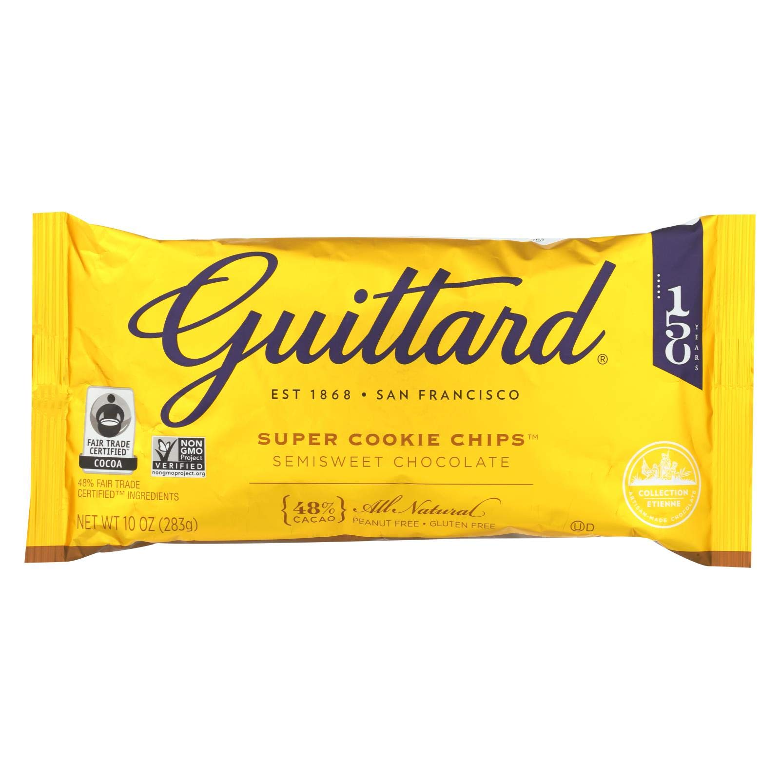 Guittard Chocolate Chips - Super Cookie Chips - Case of 12 - 10 oz. by Guittard Chocolate