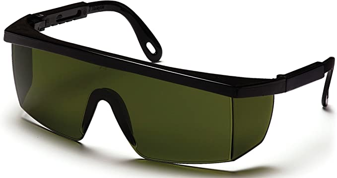 INTEGRA Safety Glasses Clear Lens w// Adjustable Temples Black Frame 144 Pieces