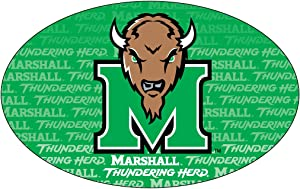MARSHALL THUNDERING HERD OVAL REPEAT DESIGN MAGNET-MARSHALL UNIVERSITY MAGNET-NEW FOR 2016