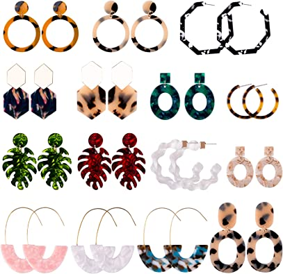 15 Pairs Acrylic Women's Earrings