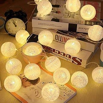 Elinkume Led Lampion Lichterkette 20er Partylichterkette Deko Fur