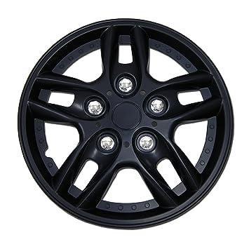 4pcs Set Style#807 Matte Black 15 inch Hubcap Wheel Rim Skin Cover Hub caps