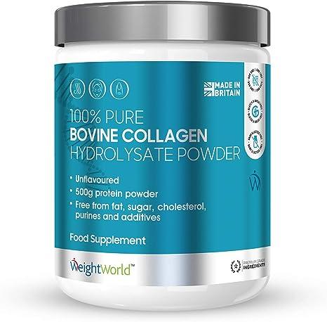 Péptidos de Colágeno Bovino Hidrolizado en Polvo 500gr Suplemento De Colágeno Puro 100% Natural Para la Piel, Cabello y Articulaciones, Aumenta la ...