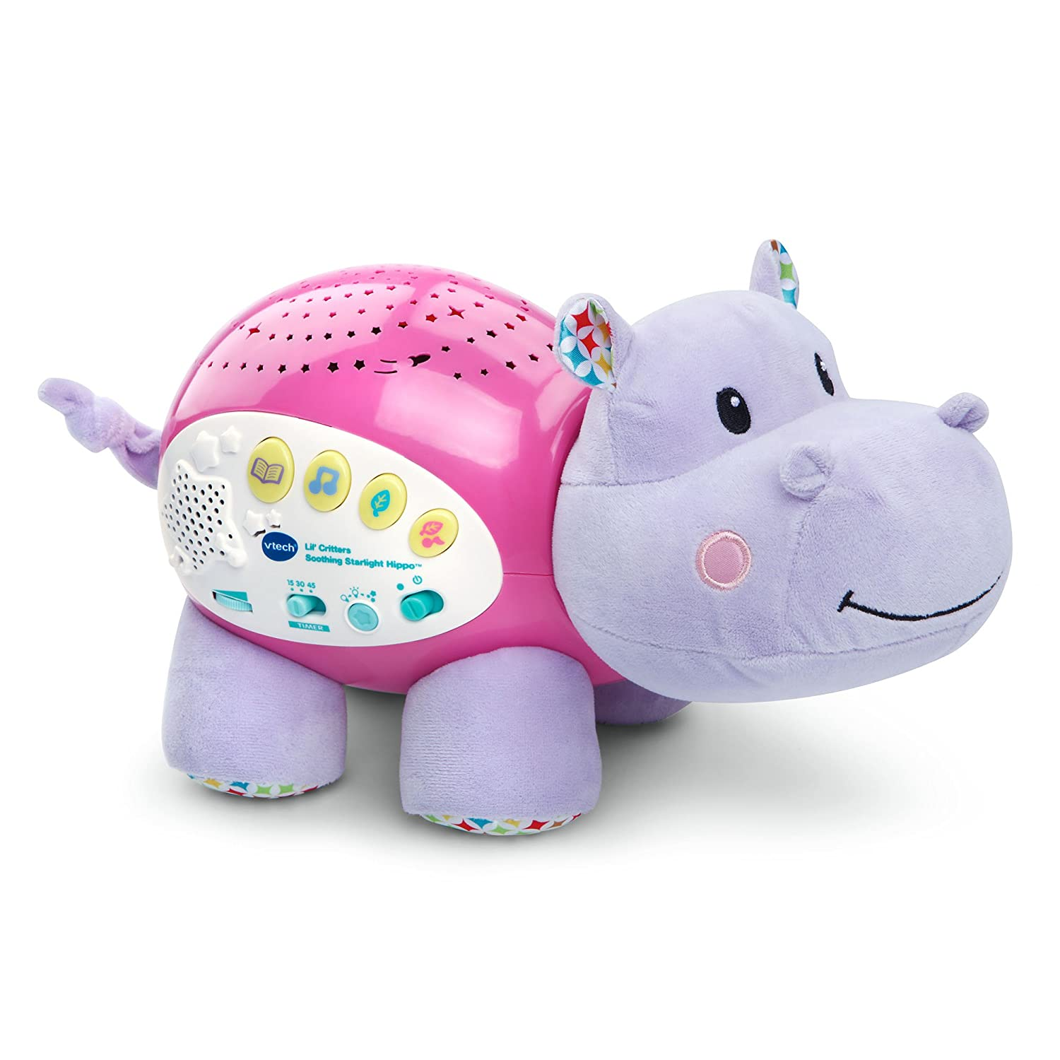 VTech Baby Lil' Critters Soothing Starlight Hippo, Pink (Amazon Exclusive) baby sleep Baby sleep: Problems, Solutions, Tips and Tricks 71c0HchCLdL