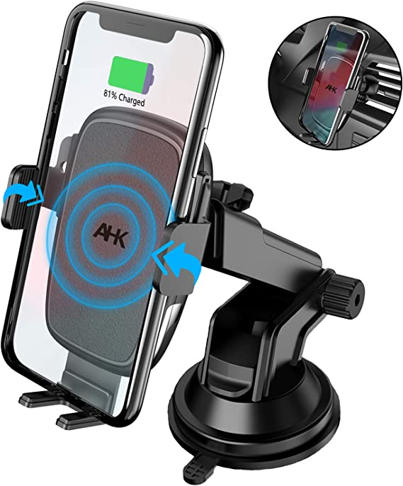Wireless Car Charger 10W Fast Wireless Charger Car Mount Air Vent Gravity Design Phone Holder Compatible iPhone X//XS//XR Galaxy S9//S9 Plus