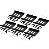 """Valuegist 2.5"""" to 3.5"""" Internal SSD/HDD Mounting Kit, Metal Bracket Adapter with SATA 3.0 Cable (6Pack)"""