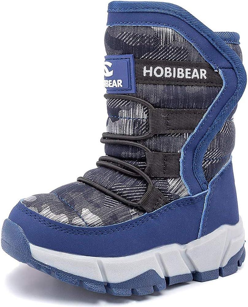 K/&T Kids Boots Girls Boys Winter Snow Boots Outdoor Waterproof Non-Slip Sneakers Toddler//Little Kid//Big Kid