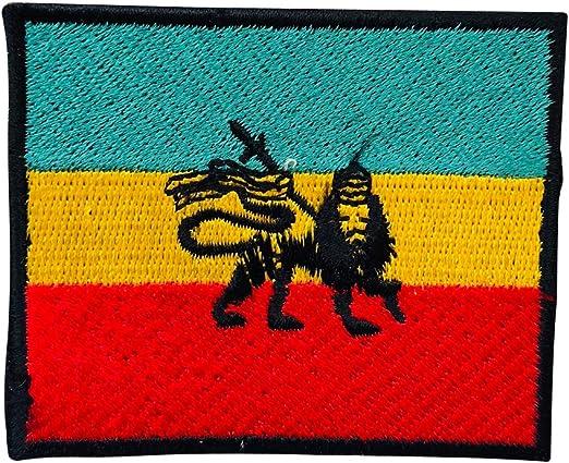 Parche Bordado con la Bandera de Empire Rasta de Rastafari para ...