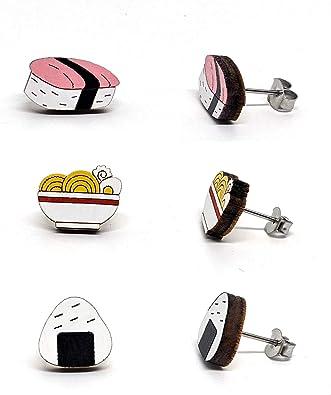 fun kitchen cook collection joke earrings Christmas gift stocking filler kawaii kitsch made to order