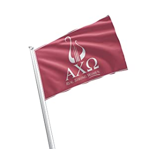 Alpha Chi Omega Sorority Greek Life Licensed Flag 3x5 Feet Flag Banner Wall Decor Outdoor Indoor Decoration Brass Grommets Double Stitch