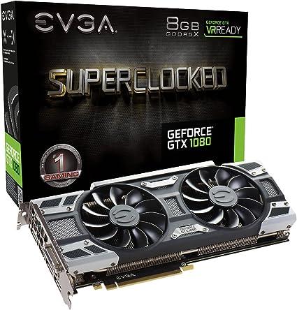 EVGA GeForce GTX 1080 Founders Edition, 8GB GDDR5X, LED, DX12 OSD ...
