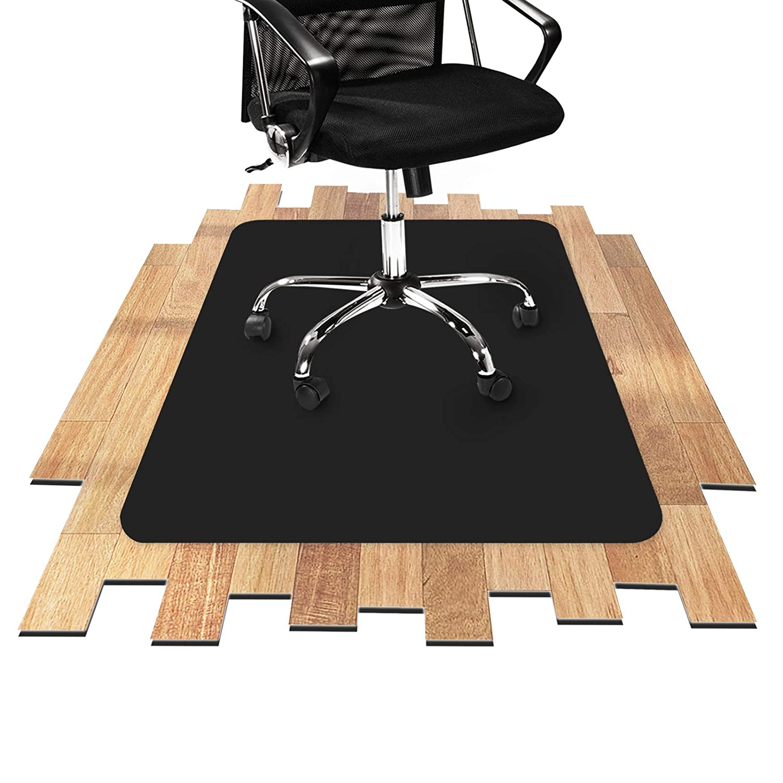 Office Marshal Tappeto salvapavimento pavimenti duri | Salvaparquet | Polipropilene | Nero | diverse misure, 90x120 cm