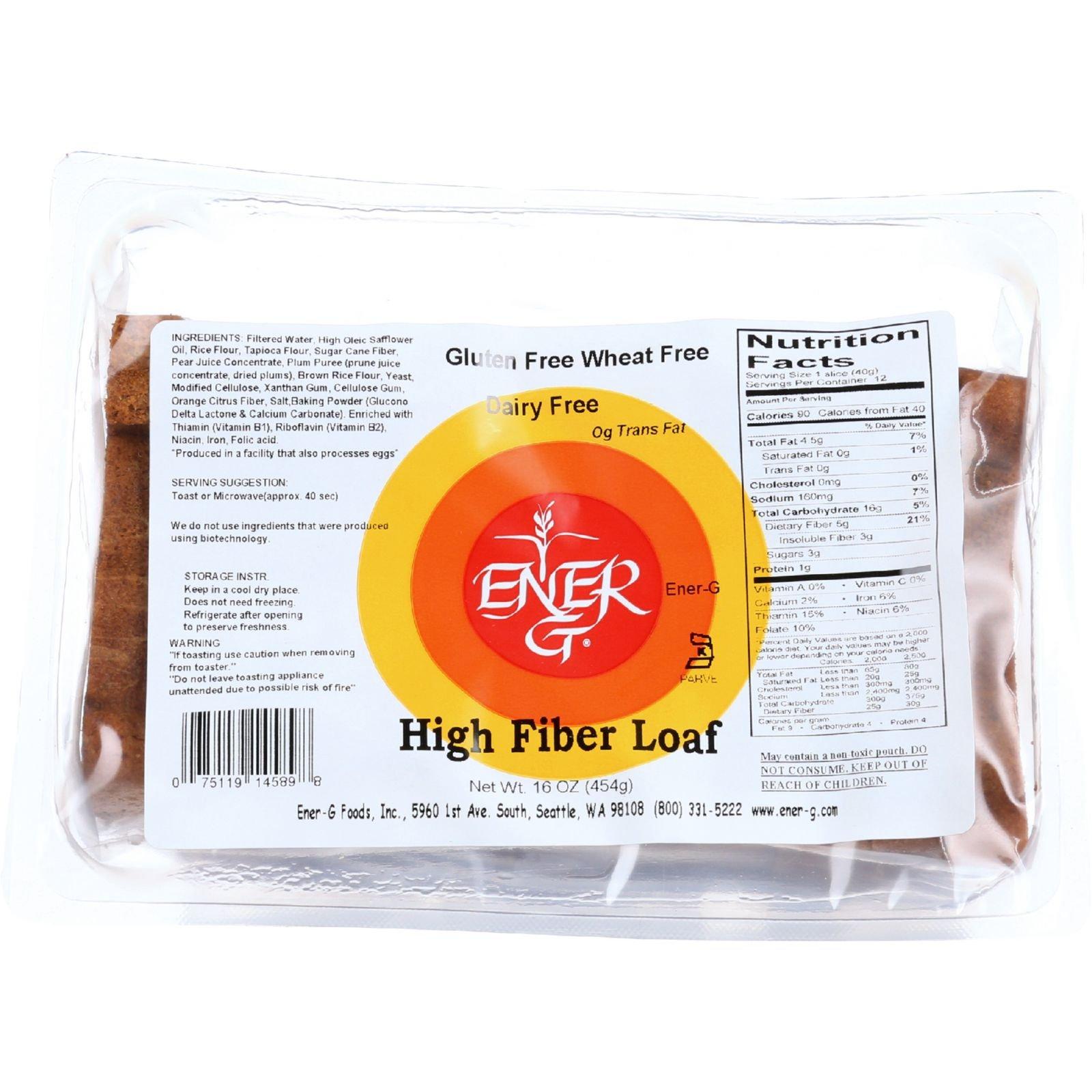 Ener-G Foods Loaf - High Fiber Rice - 16 oz - case of 6