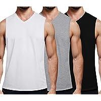 COOFANDY 3-pak męski top treningowy z dekoltem w szpic, bez rękawów na siłownię, kulturystyka
