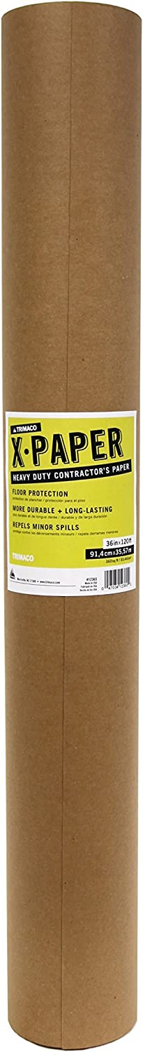 Trimaco Heavy Duty Contractor's X-Paper, 1 roll, 36-inch x 120-feet