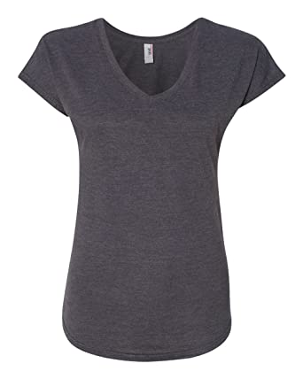 b153a0625a244 6750VL Anvil Women's Tri-Blend V-Neck Tee at Amazon Women's Clothing ...