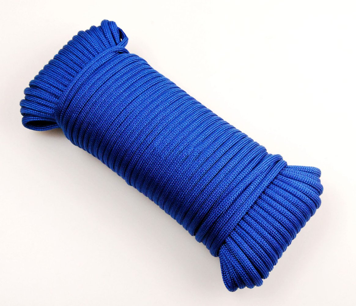 Bleu Cordelettes D'escalade Tente Extérieure Corde 4 Mm (10 Yards 32ft) De Diamètre (20 M 64ft) (30 Yards 94ft) (40 Yards 131ft) Accessoire Pour Cordon Le 30 Kg De Charge Maximale Admissible Le Nylon 40m
