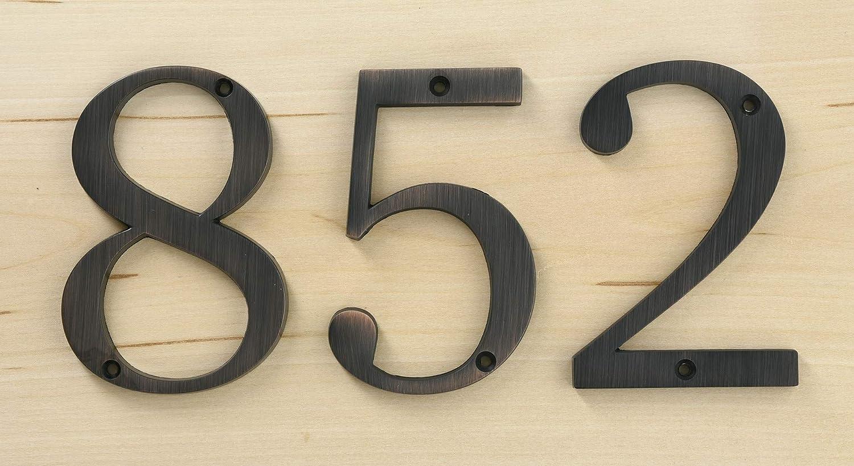 Distinctions 843240 4 Flush Mount Bronze House Number 0
