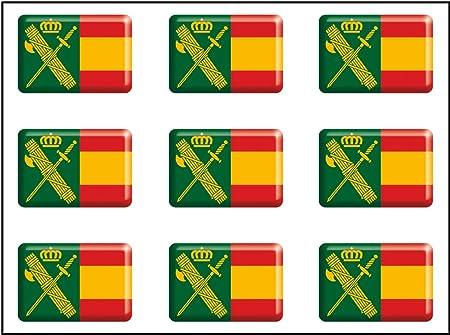 Artimagen Pegatina rectángulos Bandera con Logo Guardia Civil 9 uds. Resina 16x11 mm/ud.: Amazon.es: Coche y moto