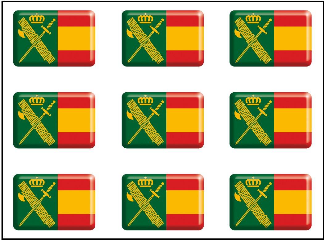 Artimagen Pegatina rect/ángulos Bandera con Logo Guardia Civil 9 uds Resina 16x11 mm//ud.