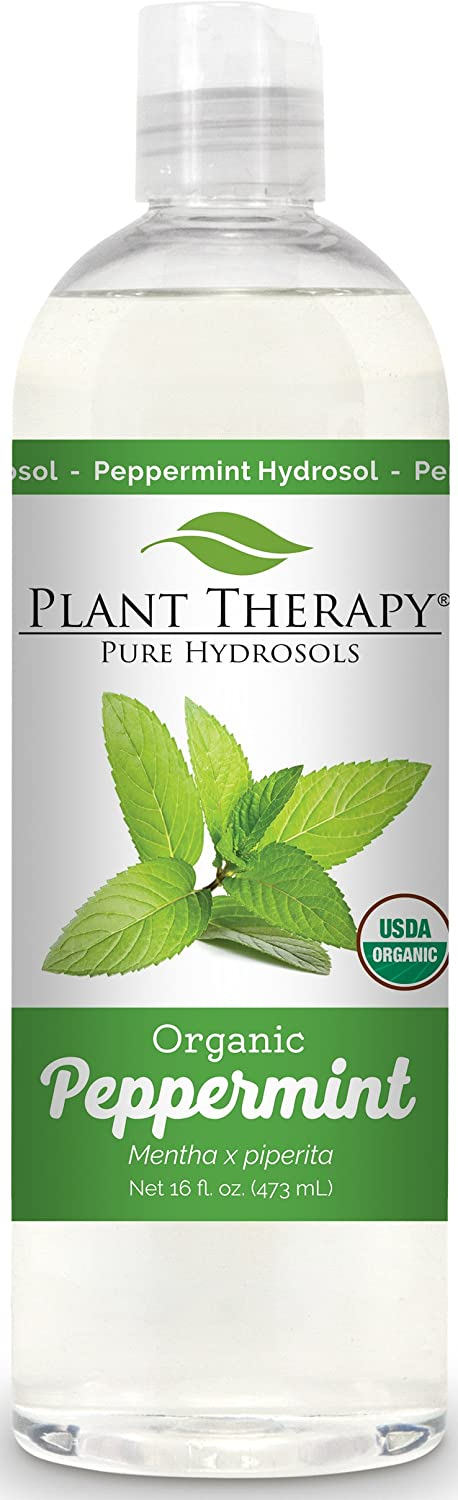 Plant Therapy Peppermint Organic Hydrosol Flower Water, By-Product of Essential Oils 4 oz Plant Therapy Essential Oils