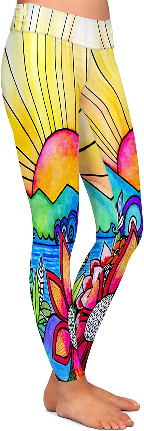 Athletic Yoga Leggings from DiaNoche Designs by Robin Mead Aloha