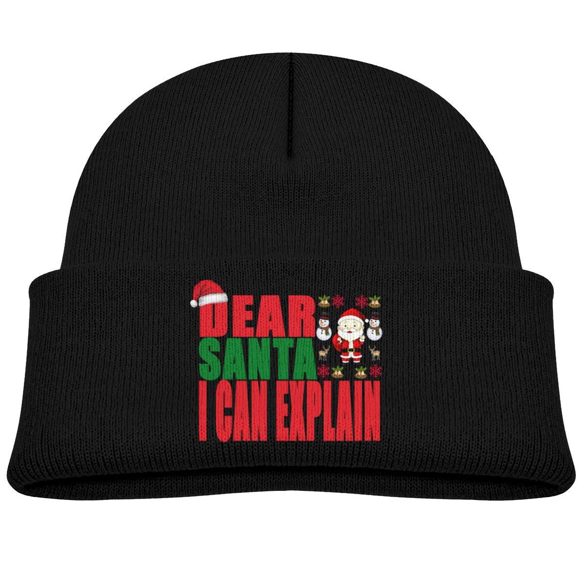 Moniery Dear Santa I Can Explain Knit Cap Baby Boy