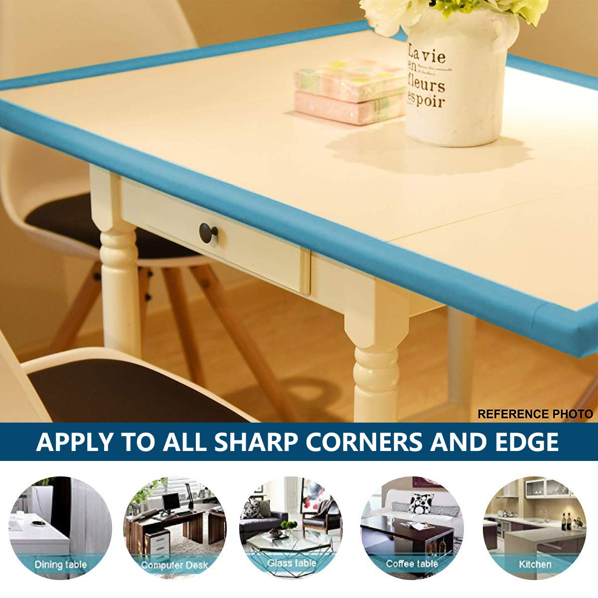 6.56Ft Edge Guard Safety Corner Protectors Guards /& Edge Set Green 4Pcs Corner Guard with Strong Adhesive Augola Table Corner Guards for Child and Baby Proofing