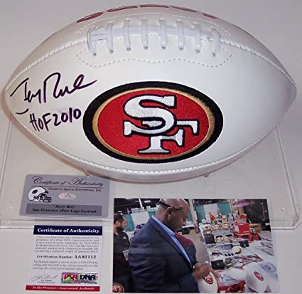 3c5e46da62a Image Unavailable. Image not available for. Color  Signed Jerry Rice  Football ...