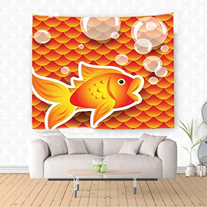 Amazon Com Nalahome Range Decor Cute Small Goldfish Talking With