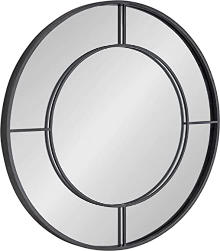 Kate and Laurel Kaveena Modern Round Metal Framed Wall Mirror
