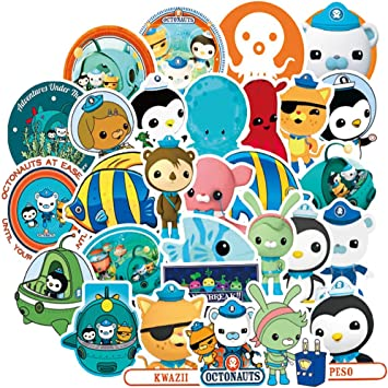 4 Pack Octonauts 3D Puffy Stickers Sheets