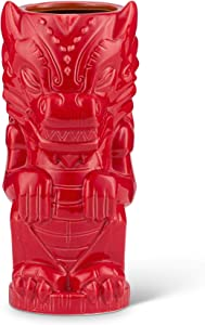 Geeki Tikis Red Dragon Fantasy Mug | Official Geeki Tikis Fantasy Series Ceramic Tiki Style Cup | Holds 17 Ounces