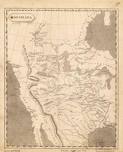 Amazon.com: 1805 Map West Coast, Luisiana & Canada West Coast