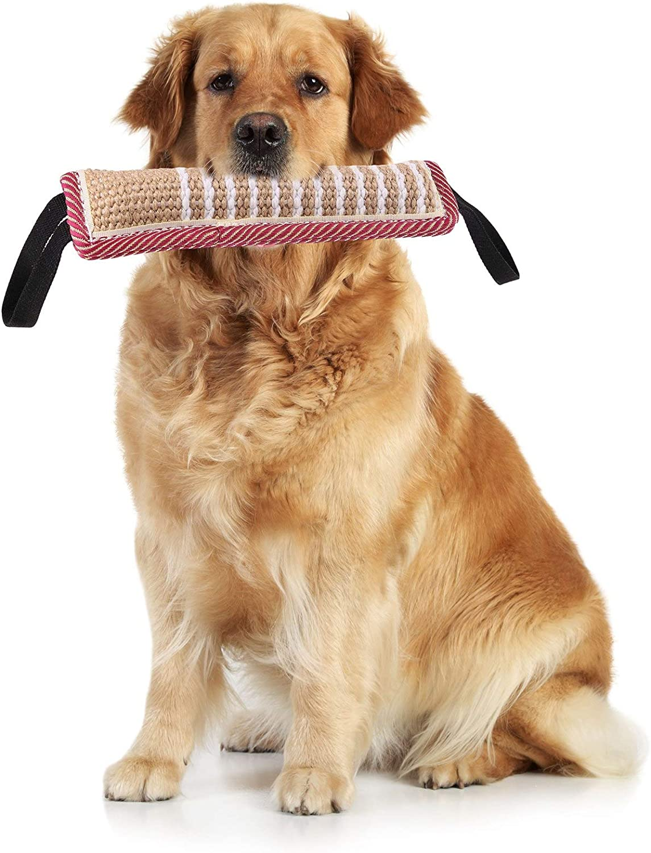 adakel 2 St/ück Beisswurst f/ür Hunde Tauziehen und Zerrspiele mit Hunde Jute Bei/ßwurst f/ür Hundetraining K9 IGP IPO Obiedence Schutzhund Hundesport