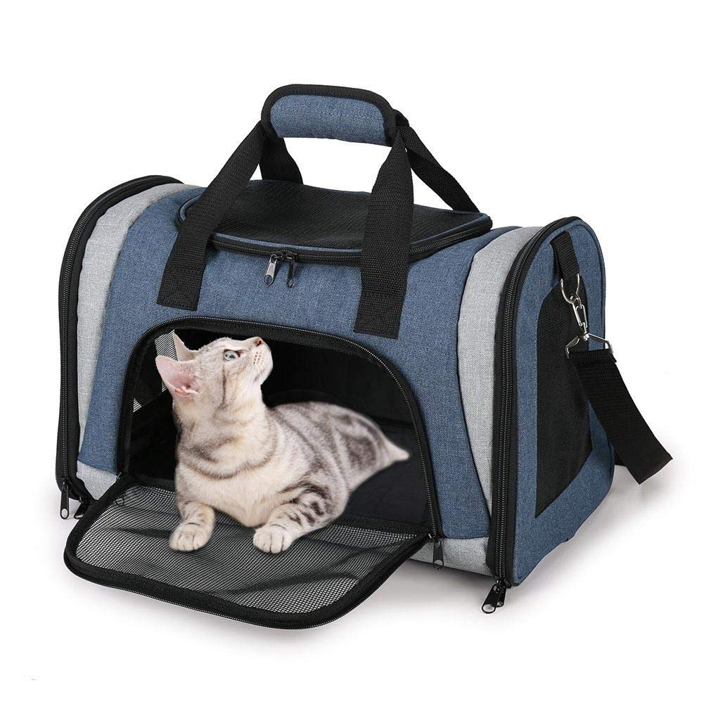 Longshow Pet Transport Bag Oxford Fabric Foldable Tote Bag Breathable Waterproof Suitable for Small Dogs to Go Out