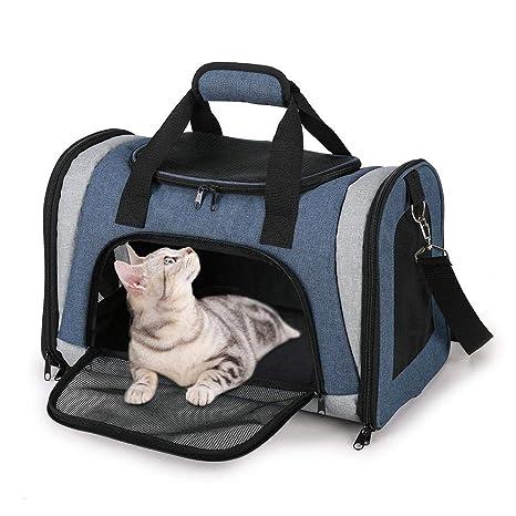 Mlec tech Bolsa de Transporte para Perro y Gato Plegable Respirable Malla Caja para el Transporte
