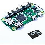 Raspberry Pi Zero W EASY (mit bereits verlöteter Stiftleiste!) + 16 GB microSD mit NOOBS Lite (einfacher Start!) Bundle