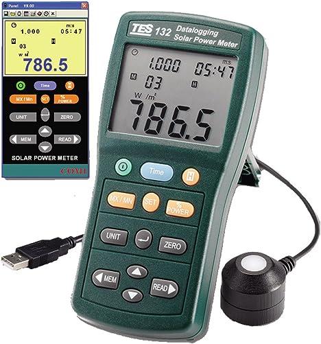 TES 132 Solar Power Meter Datalogging