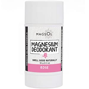 Rose Natural Deodorant with Magnesium - Aluminum Free, Baking Soda Free, Alcohol Free, Cruelty Free, Healthy, Safe, Non Toxic, All Natural, For Women, Men & Kids - 3.2 oz (Lasts over 4 months)
